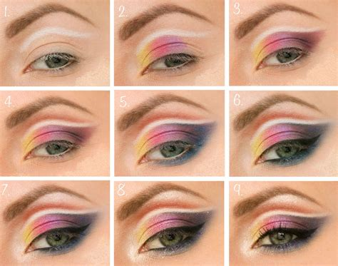 colorful-make-up-step-by-step tutorial   Colorful eye