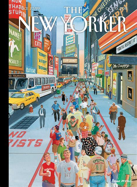 """Cover Story: """"Glass Houses,"""" by Bruce McCall - The New Yorker"""