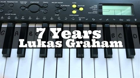7 Years - Lukas Graham | Easy Keyboard Tutorial With Notes