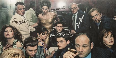 Lot Detail - The Soprano's Cast Signed and Framed Poster