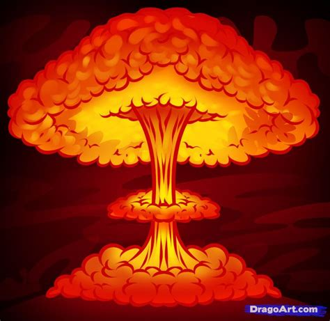 how to draw a nuke, nuclear blast in 2019 | Nuclear bomb