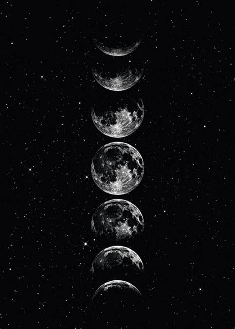 Poster/print of space | Prints with the moon and stars online