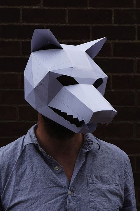 For Halloween: Brilliant 3D Masks Made With Cardboards And