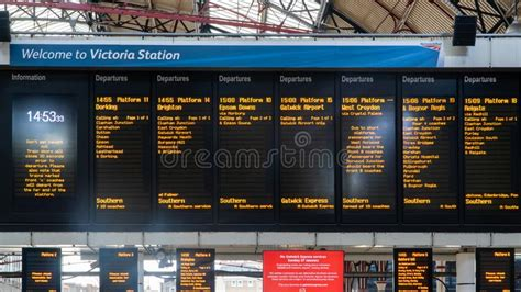 Train timetable editorial image